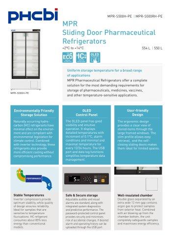 MPR-500(R)H-PE Sliding Door Pharmaceutical Refrigerators