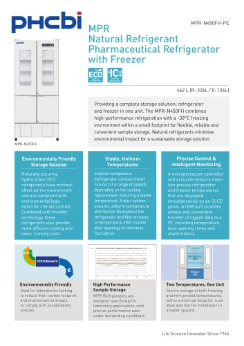 MPR-N450FH-PE Pharmaceutical Refrigerator with Freezer