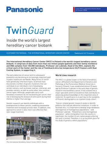 TwinGuard Freezers Customer Testimonial - The International Hereditary Cancer Center