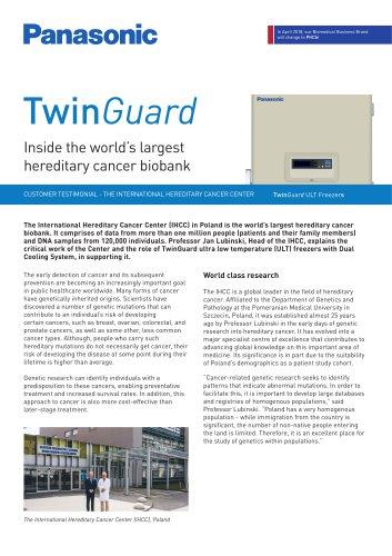 TwinGuard Freezers Customer Testimonial - The International Hereditary Cancer Center