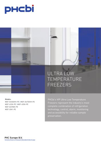 ULTRA LOW TEMPERATURE FREEZERS