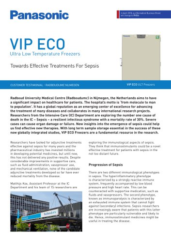 VIP ECO ULT Freezers Customer Testimonial - Towards Effective Treatments For Sepsis, Radboudumc Nijmegen, NL