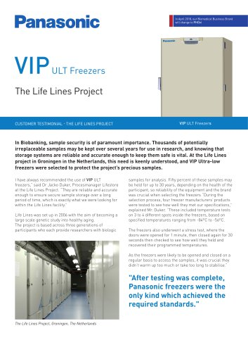 VIP ULT Freezers Customer Testimonial – The Life Lines Project