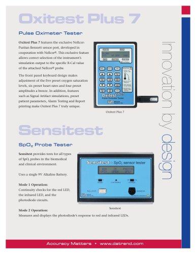 Sensitest – SpO2 Probe Tester
