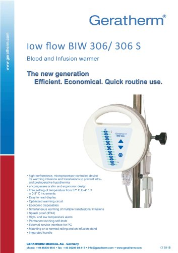 blood and infusion warmer BIW 306/ 306 S