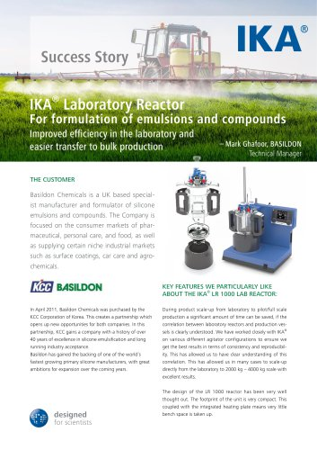 IKA® Laboratory Reactor For formulation of emulsions and compounds