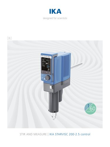 IKA STARVISC 200-2.5 control