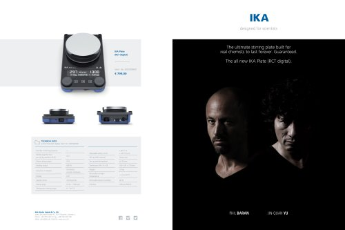 The ultimate stirring plate built for real chemists to last forever. Guaranteed. The all new IKA Plate (RCT digital).