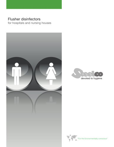 Flusher disinfectors for hospitals and nursing houses