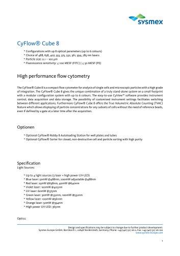 CyFlow® Cube 8