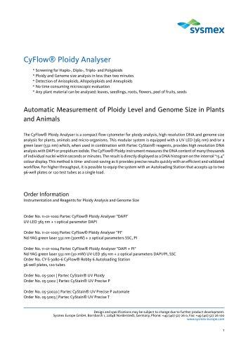 CyFlow® Ploidy Analyser
