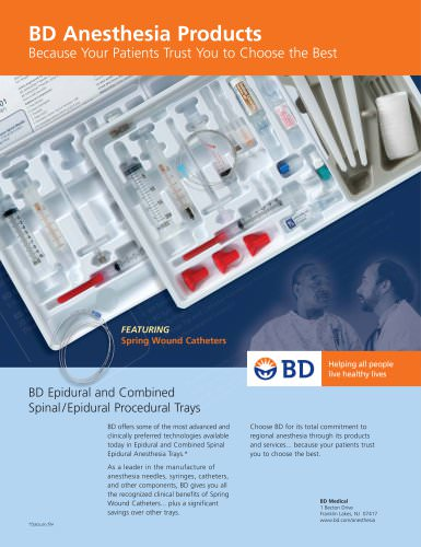 BD Anesthesia Products