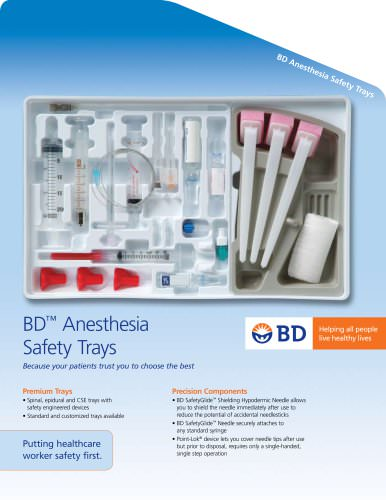 BD Anesthesia Safety Trays BD ?