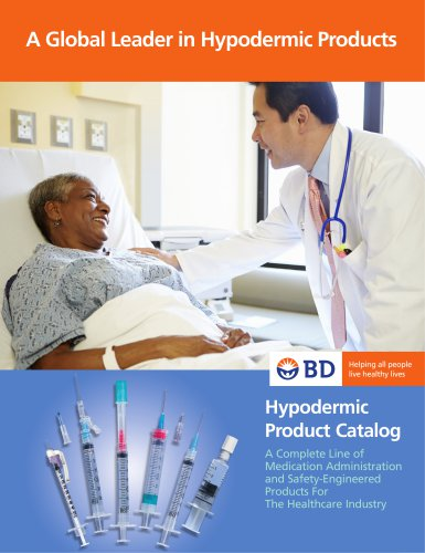 BD Hypodermic Product Catalog