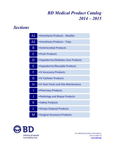 BD Medical Product Catalog