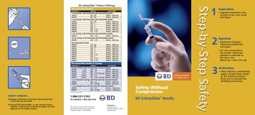 BD SafetyGlide? Needle