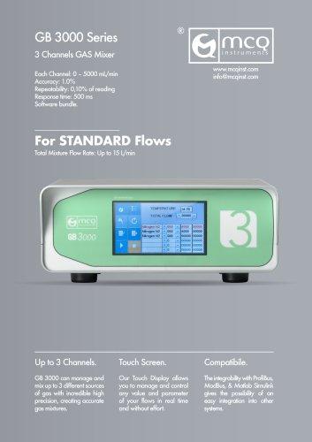 Gas Blender 3000 - Standard Flows - 3 Channels
