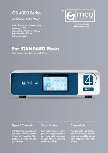 Gas Blender 4000 - Standard Flows - 4 Channels