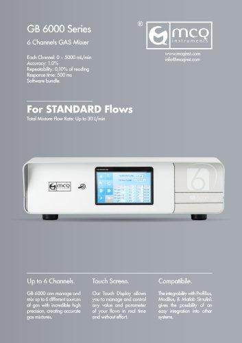 Gas Blender 6000 - Standard Flows - 6 Channels