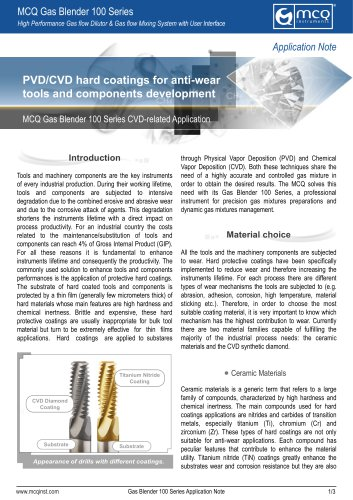 PVD/CVD hard coatings for anti-wear tools and components development