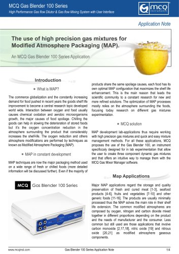 The use of high precision gas mixtures for Modified Atmosphere Packaging (MAP)