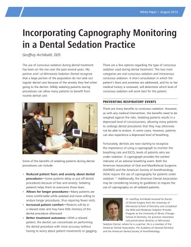incorporating capnography monitoring