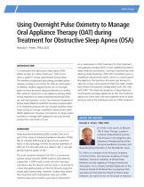 Obstructive Sleep Apnea (OSA) - 1