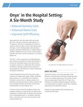 Onyx® in the Hospital Setting: a Six Month Study - 1