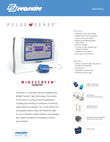 PulseSense? WIDESCREEN OXYMETRY