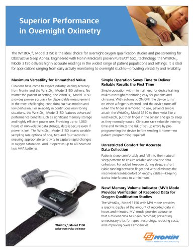 Superior Performance   in Overnight Oximetry