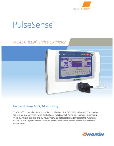 WIDESCREEN  Pulse Oximeter