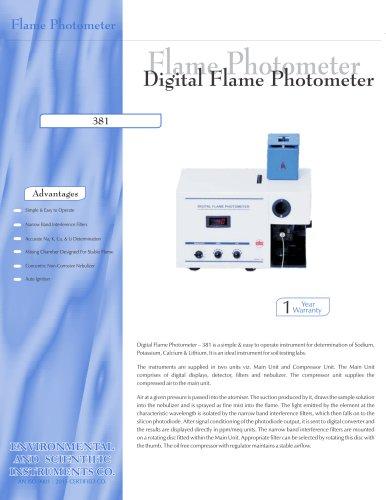 Digital Flame Photometer – 381