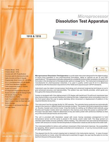 Dissolution Test Apparatus 1918 & 1916