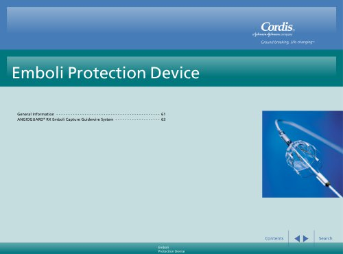 ANGIOGUARD® RX Emboli Capture Guidewire System Product Page