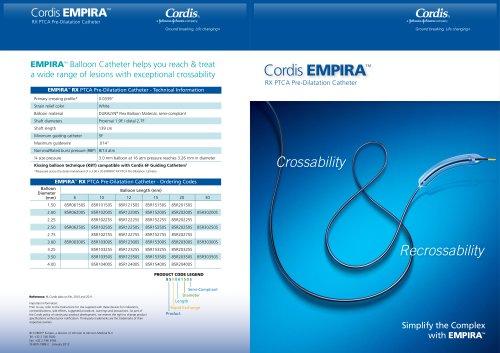 Cordis  EMPIRA ™ RX PTCA Pre-Dilatation Catheter