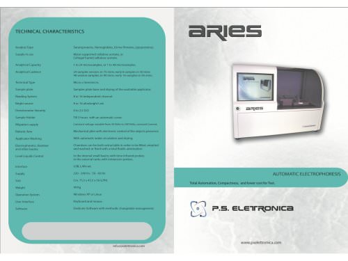 Brochure Aries P S Elettronica Srl Pdf Catalogs Technical Documentation