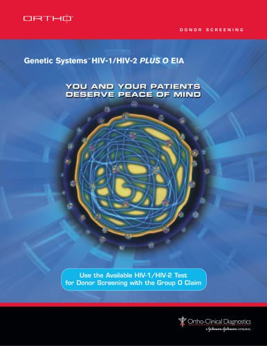 Genetic SystemsTM HIV-1/HIV-2 PLUS O EIA