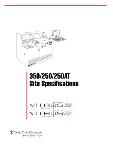 VITROS® 250/350 Chemistry System Site Specifications