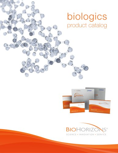 BioHorizons Regeneration Product Catalog