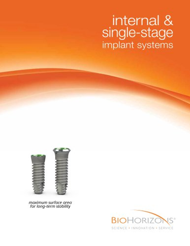 Internal & Single-stage  Dental Implant Catalog