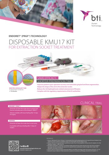 Disposable KMU17 Kit for extraction socket treatment - See more at: http://bti-biotechnologyinstitute.com/bti-channel/search/?page=1&type=documents&keywords=&section=&from=&to=#sthash.SQCr9uVH.dpuf