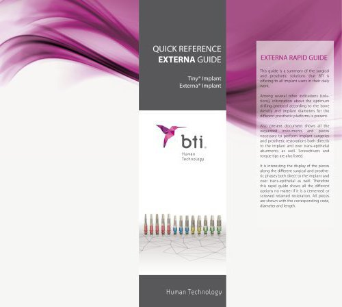 Quick Reference Guide Externa® Implants