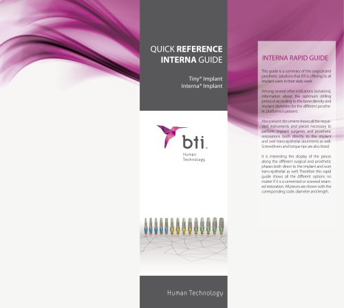 Quick Reference Guide Interna® Implants
