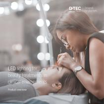 LED lighting for beauty treatments in clinical environments