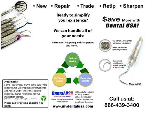 Retipping Instruments Brochure