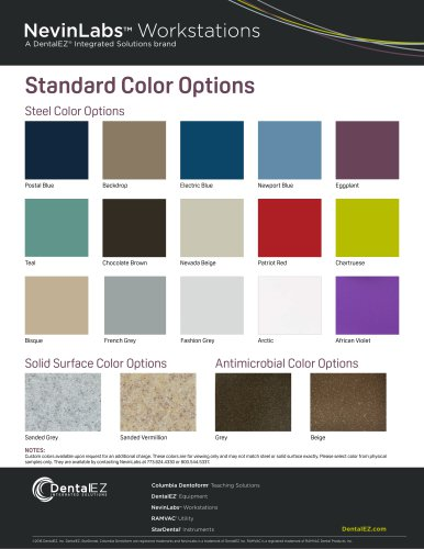 NevinLabs Color Options