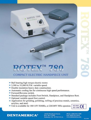 ROTEX 780 Compact Electric Handpiece Unit