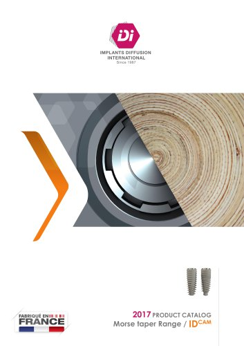 2017 PRODUCT CATALOG Morse taper Range / IDCAM