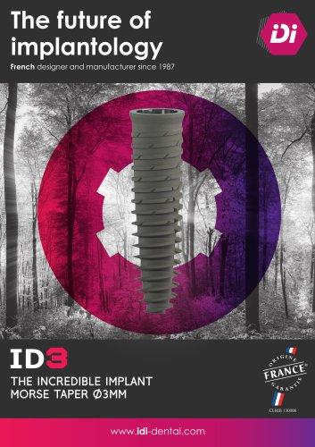 ID3 implant 3mm diameter