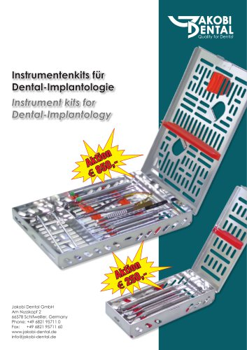 Instrument kit for implantology